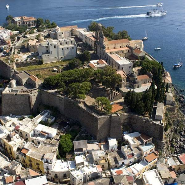 Aerial view of Lipari